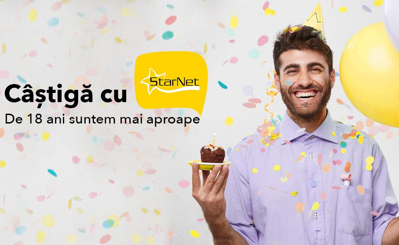 Câștigă cu StarNet peste 1 500 de premii valoroase, în 38 de regiuni ale țării