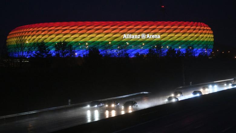 UEFA a respins solicitarea de a ilumina în culorile curcubeului stadionul Allianz Arena. Cu ce reacție a venit primarul din München