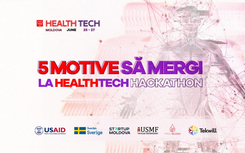 Cinci motive de a participa la HealthTech Hackathon
