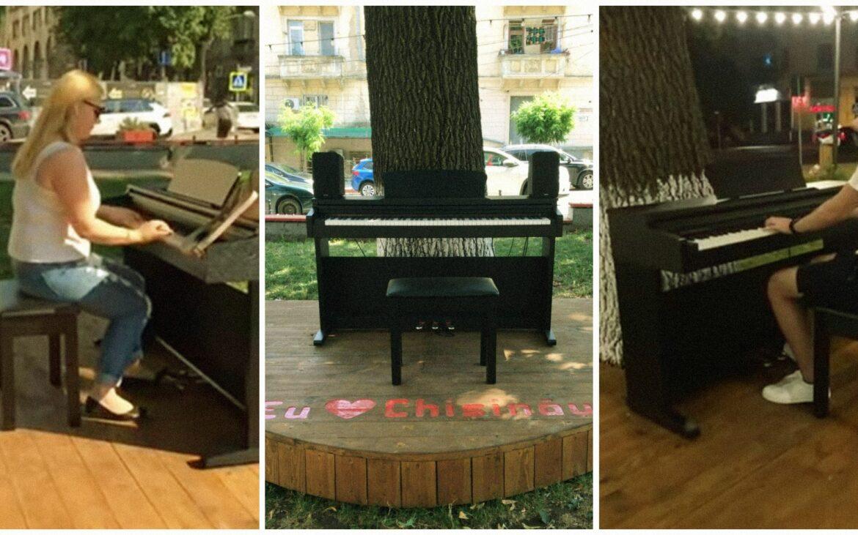 (foto) În centrul Chișinăului, a fost instalat un pian stradal. Fiecare doritor va putea interpreta operele preferate