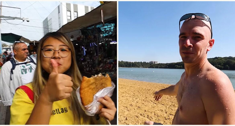 (video) Au mâncat beleaș de la Piața Centrală și s-au scăldat în lacul Valea Morilor. Doi travel vlogger-i din Canada au vizitat Moldova