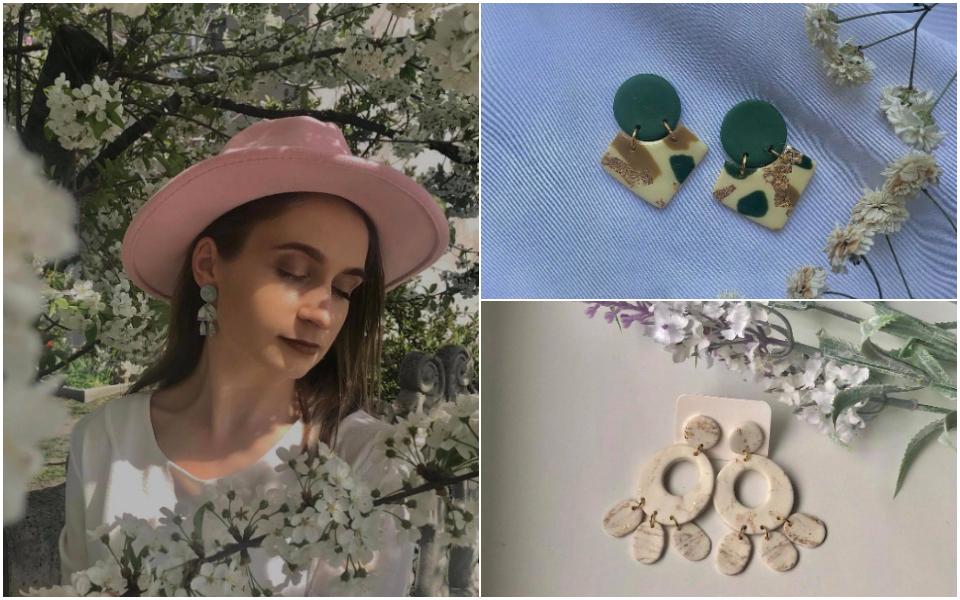 """(foto) """"Important e să faci totul cu dragoste."""" Povestea Virginiei Sîrbu, tânăra care creează bijuterii din argilă polimerică"""