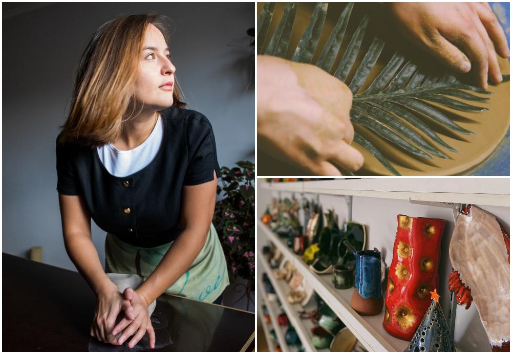 """(foto) """"Nu eu am ales ceramica, ea m-a ales pe mine."""" Anastasia Suleimanova povestește despre bucuria de a face ceramică în Moldova"""
