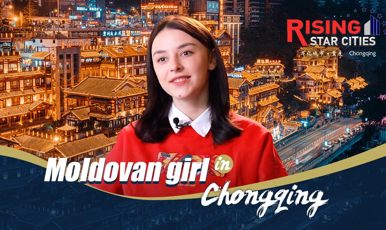 (foto) O tânără din Moldova a devenit populară pe rețelele sociale din China și a ajuns subiect de știre în presa locală